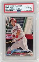 2018 Topps TEAM SET Los Angeles Angels #A-1 MIKE TROUT PSA 10 Graded