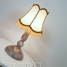 chicce alte Tisch Stehleuchte Bankers Lamp Glas Leuchte Vintage 60er 70er Jahre