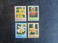1994 MALAYSIA ORCHIDS OF MALAYSIA HONK KONG '94 SET 4 STAMPS