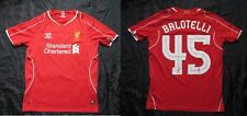 Mario Balotelli #45 LIVERPOOL home shirt jersey WARRIOR SIZE XL.Boys (XS adults)