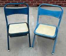 PAIR OF Vintage HAMPDEN  METAL CHILDREN CHAIRS STEAMPUNK