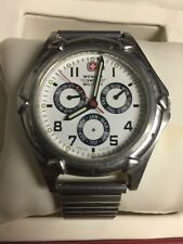 Wenger Swiss Army Classic Field Mens Watch 79017 For Parts/repair - Sold AS-IS