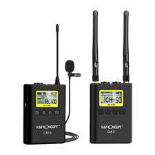 K&F Wireless Lavalier Lapel Microphone Mic System for DSLR Camera Camcorder