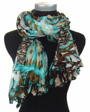 Écharpes et châles multicolores avec des motifs Géométrique polyester pour femme