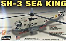 Sh-3 Sea King Helicopter Model Kit Navy Usn Military Chopper Aircraft Lindberg