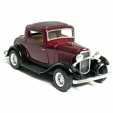 "New 5"" Kinsmart 1932 Ford 3-Window Coupe Diecast Model Toy Car 1:34 - Maroon"