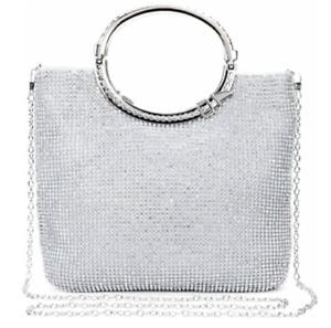 Diamante Crystal Evening Wedding Clutch Purse Prom Party Bag Handbag Shoulder