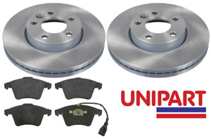 For VW - Transporter T5 1.9 2.5 TDi Front 308mm Brake Discs and Pads Unipart