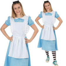 Ladies Alice Costume Fairytale Wonderland Book Day Fancy Dress Adult Outfit