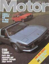 Motor magazine 18/6/1983 featuring Lamborghini Jalpa road test, Fiat