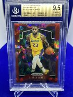 2019-20 PANINI PRIZM LEBRON JAMES RED ICE #129 BGS 9.5 GEM MINT LA LAKERS PSA 10