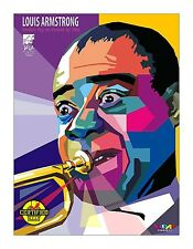Louis Armstrong Iron On Transfer For T-Shirt & Other Light Color Fabrics #2
