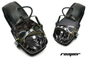 Sticker Wrap Decal  Fits: Howard Leight Impact Noise Ear Shooting Muffs REAPER