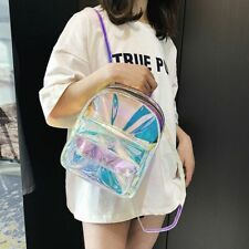 Mini Holographic Backpack For Teenage Girls Women Shoulder Bag School Bags Small