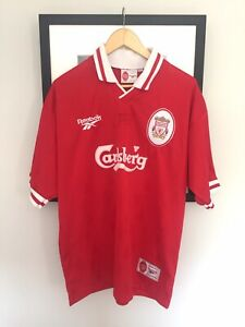"""LIVERPOOL FC Official Football Shirt Signed By JAMIE REDNAPP Size 42""""/44 """"Reebok"""