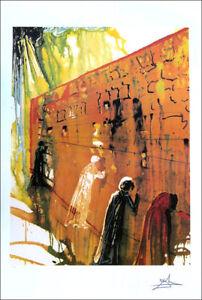 Salvador DALI The Wailing Wall Litho Print P/Signed Numbered COA