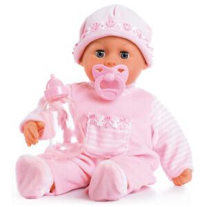 First words Baby Puppe 38 cm Funktionspuppe Schnuller Flasche von Bayer 93800AB