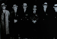 LUCKY LUCIANO & MEYER LANSKY MOB, MAFIA, GANGSTERS, RARE CRIME PHOTO