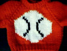 Baseball Sports Sweater Handmade for 18 inch Build A Bear Made in Usa
