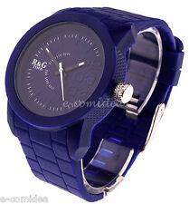 OROLOGIO  R&G TIME SILICONE ACCIAIO UNISEX BLU !!!SOTTOCOSTO!!!
