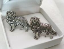 Cavalier King Charles Spaniel Dog Cufflinks, Gift Boxed