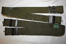 US Military Issue Vietnam Era Brass Buckle Pistol Belt USMC US ARMY ISSUE