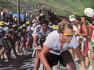 Vintage Greg LeMond poster - 7/17/90 Tour de France race leading Miguel Indurain