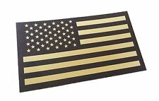 Forward Black and Tan Us Ir Infrared USA Flag Military Morale Reflective Patch
