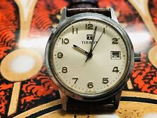 Classic 70's Tissot manual wind gents  Men's Watch clean clear dial