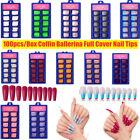 100Pcs Long Ballerina False Nail Tips Acrylic Coffin Full Cover Fake Nails Art