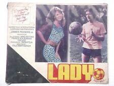 LADY FOOTBALL 1979 6pc ENGLISH 14X11 Orig Promo RARE LOBBY CARD INDIA Ltd Qty