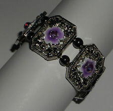 Crystal Enamel Silver Plated Costume Bracelets