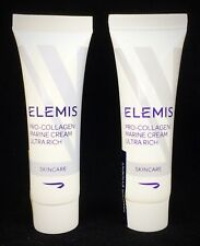 (LOT OF 2) ELEMIS Pro-Collagen Marine Cream Ultra-Rich .2oz - VALUE $32 SEALED