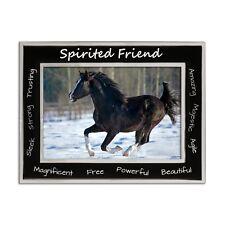 "Horse Photo Frame, Equestrian ""Spirited Friend"" 4 x 6 Inch"