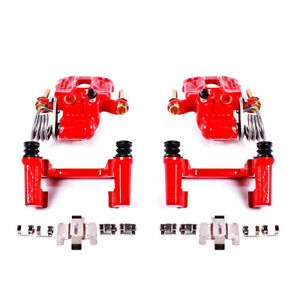 PowerStop for 94-04 Ford Mustang Rear Red Calipers w/Brackets - Pair
