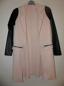 Women's Pink & Black Knee Length Lightweight Jacket Size 8