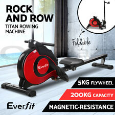 Everfit Rowing Exercise Machine Rower Resistance Fitness Gym Hydralic Magnetic