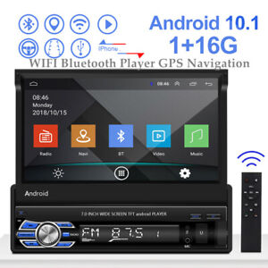 2DIN 7''Android 10.1 HD 1080P  Touch Screen Car WIFI Bluetooth Player GPS Nav