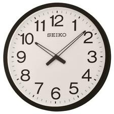 "NEW SEIKO BLACK FRAMED NUMBERED   WALL CLOCK 20"" IN DIAMETER QXA563KLH"