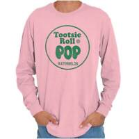 Vintage Tootsie Roll Pop Watermelon Lollipop Long Sleeve Tshirt Tee for Adults