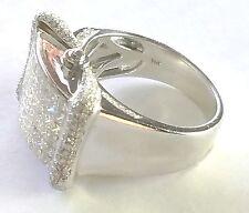 3.57ctw Diamond Ring 14k White Gold Size 11 & 13.0 grams Weight