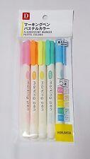 Daiso Japan  Marker Pen 5pcs Pastel Colors