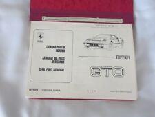 Ferrari 288 GTO Spare Parts Catalogue N 331/84 288GTO