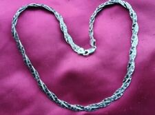A 925 Sterling Silver Double Strand Twisted Snake Chain Necklace 19.2 grams