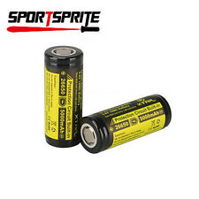 2X XTAR 26650 5000mAh 3.7V Protected Rechargeable Battery for Flashlight Camera