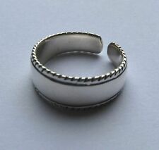 Ring with twisted edges Sterling Silver Wide Band Toe