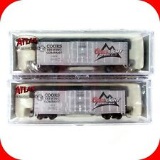 N Scale COORS LIGHT BEER Box Car 2-Pack Set -- ATLAS NSC 07-13a 13b ***VERY RARE