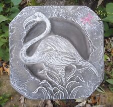"flamingo plaster concrete mold stepping stone plastic mould 12"" x 12"" x 1.5"""