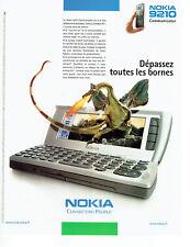 Publicité Advertising 088   2002   téléphone mobile Nokia 9210 communicator