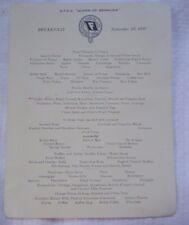 Furness Bermuda Line Queen of Bermuda Breakfast Menu September 19, 1937
